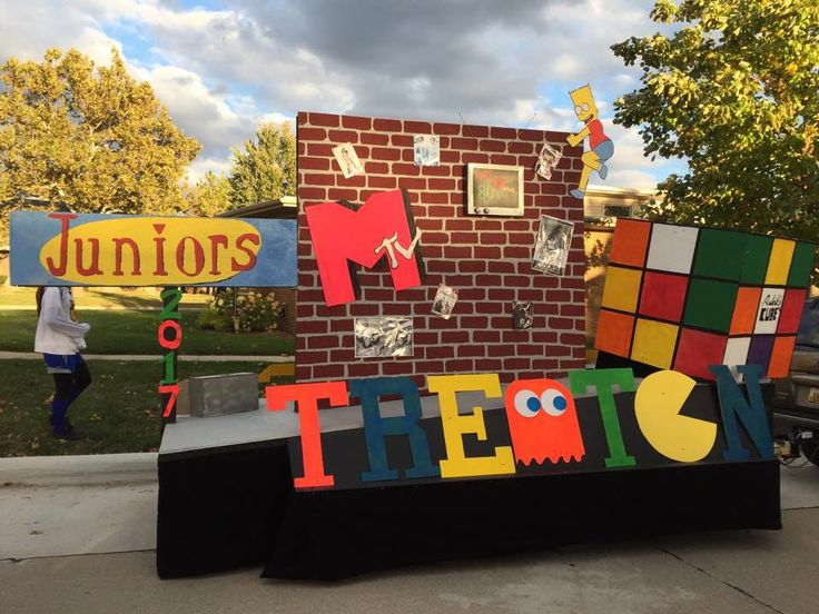 80's Themed High School Homecoming Float | 80's themed ...