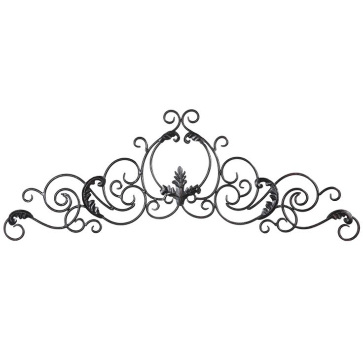 Wrought iron decor black