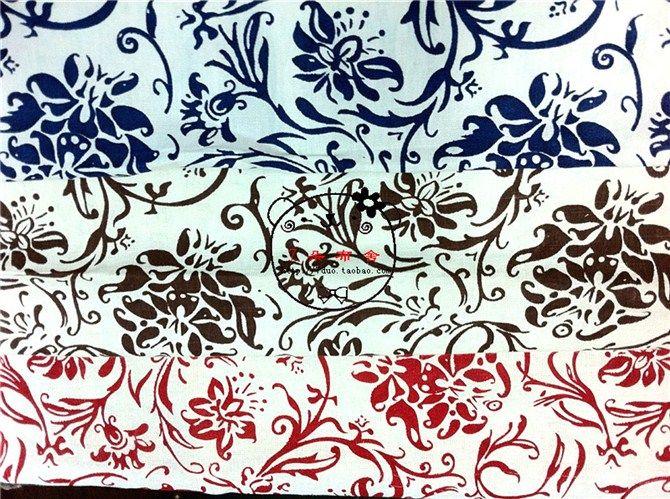 Китайская одежда ткань холста ткань Этническая / китайский синий и белый белья печати красного - Taobao