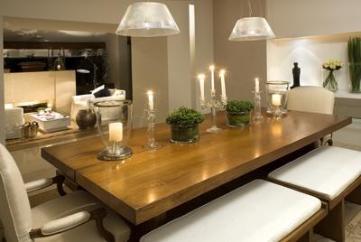 Iluminação da mesa de jantar