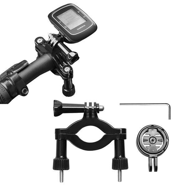 GPS Adaptador de soporte con motor Soporte de barra de rodillo de bicicleta para ciclo de borde Garmin GPS 25 200 500 510 520 800 81