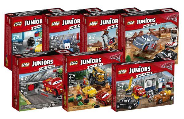 LEGO Juniors Cars 3 : les visuels officiels: LEGO remet l'univers Cars à son catalogue après une série de sets System et DUPLO basés… #LEGO