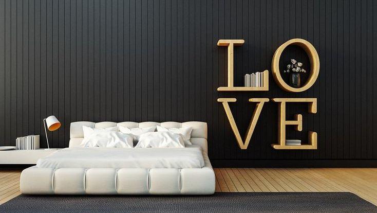 Schlafzimmer ideen wandgestaltung, farbgestaltung ideen schlafzimmer kräftige f... - Schlafzimmer Ideen