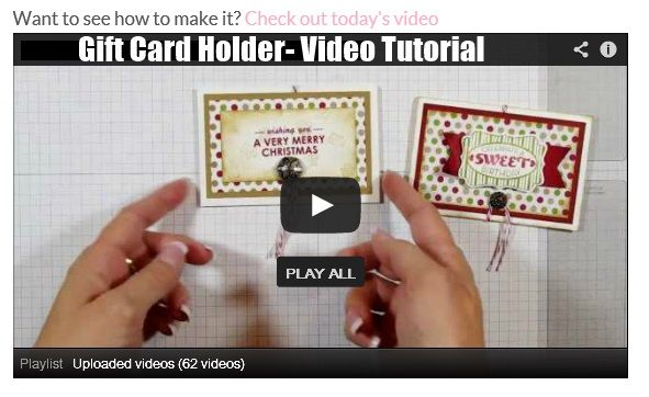 VIDEO TUTORIAL: This gift holder starts out with a regular medium sized envelope and can be used to hold anything small- gift cards, tea bags or small CHOCOLATES!!! Yum! http://stampingjo.com/stampin-girls-gone-wild/birthday-or-christmas-you-choose/