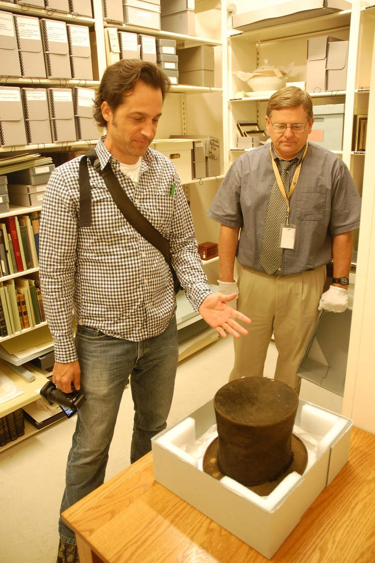 I got to see one of Abraham Lincoln's hats, deep in his archives in Springfield, IL.