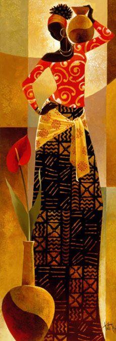 """""""Bahiya"""" - Pintura de Keith Mallett (1948)"""