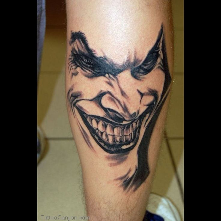 17 Best Ideas About Joker Tattoos On Pinterest