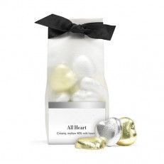 Chocolate Foil Hearts Something to remember you by. Hand these to your date before you kiss goodnight, gift them to your other half to show you care - or they make beautiful wedding favours to remind your guests of your big day.