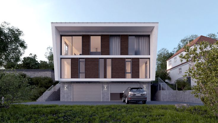 Housing project _ Small residential _  Facade design