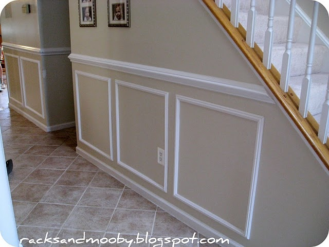 For far wall in kitchen chair rail height fixes around house pinterest in kitchen for Chair rail height in living room