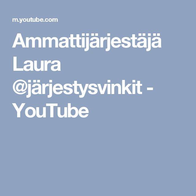 Ammattijärjestäjä Laura @järjestysvinkit - YouTube