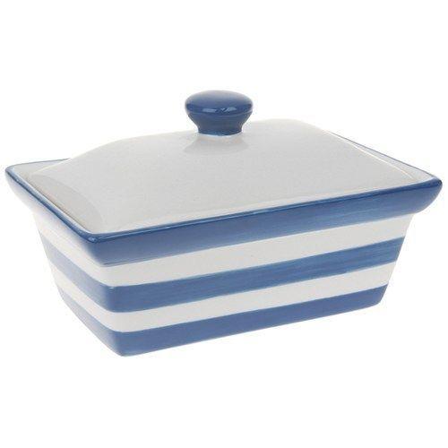 New Vintage Retro Blue Band Ceramic Butter Dish Kitchen Storage Home Decor Pinterest Blue
