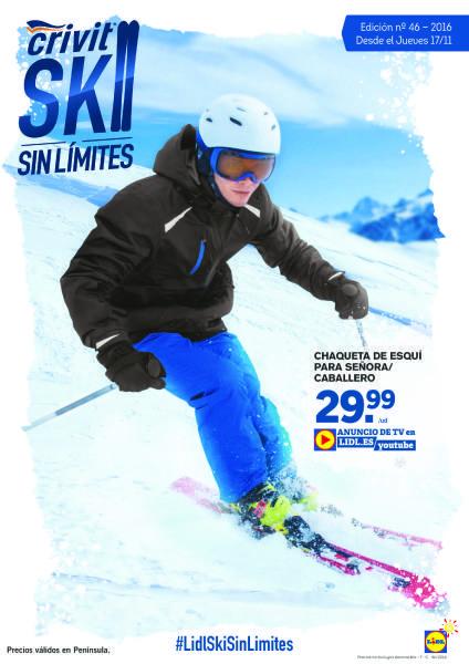 Folleto Lidl: A partir del 17 de Noviembre, especial Crivit esquí -  Ya llega la temporada de Esquí, por eso el supermercado Lidl lanza el catálogo especial en ofertas de la marca Crivit. Destacamos las chaquetas de esquí en señoras y hombres por 29,99€. Pantalones interiores térmicos para esquiar por 12,99€, o chaquetas polares de distintos colores por sólo 9,99€... #Folletosonline, #Lidl  #Crivit Ver en la web : https://ofertassupermercados.es/folleto-lidl-