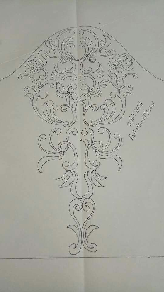Sleeve embroidery drawing