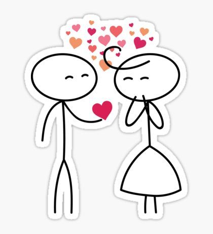 Stickers Stick Figure Valentine S Day Valentine People Love Wedding Couple Cute Family Stickman Clip Ar Valentine Stickers Valentines Day Clipart Love Stickers