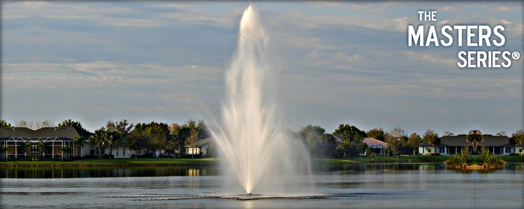 AquaMaster® Fountains: Masters Series  Crystal Geyser This nozzle produces a very decorative crystalline spray pattern in an abstract, multi-tiered formation.  Basic Flow Pattern  #landscape #water #fountains #pond #beauty #architecture