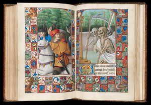 Book of Hours, Use of Rome, The Three Living and the Three Dead, Western France, c.1490-1510. Fitzwilliam Museum