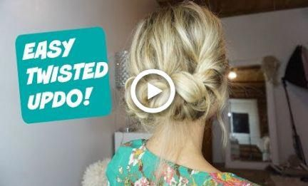 EASY EVERYDAY UPDO! Hairstyle for Short, Medium and Long Hair. #hairstyles #prom…