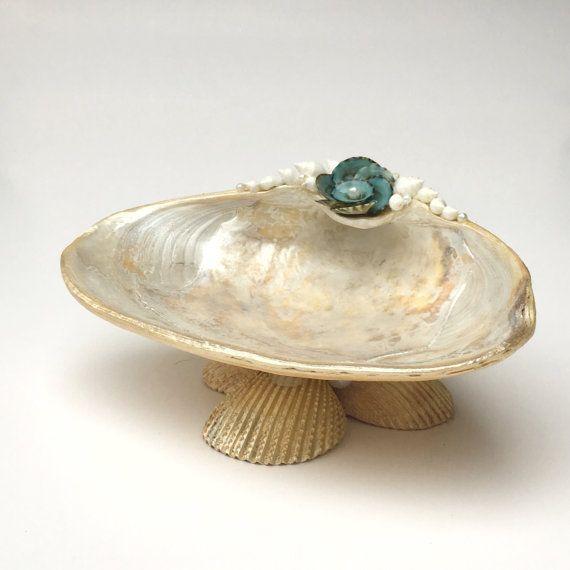 Seashell Dish Shell Soap Dish Shell Jewelry by CoastalCornucopia