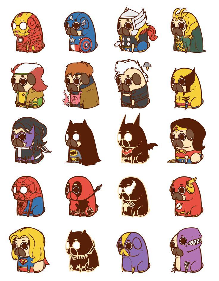 So I heard you guys like pugs and superheroes... - Imgur   @jasonwynn97