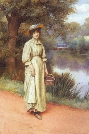 Home from the Market ~ Charles Edward Wilson ~ (English: 1854-1941)