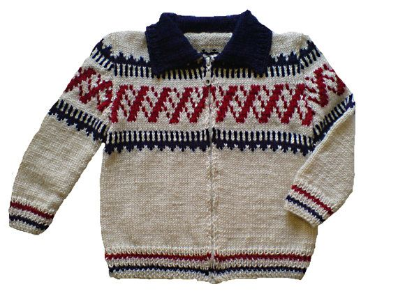 Handmade hand knit kids cardigan jacket sweater of by woolopia, $45.00