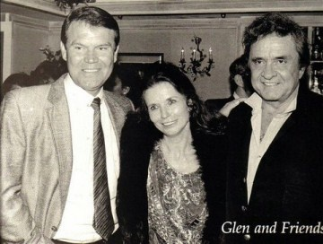 Glen Campbell with June Carter Cash and Johnny Cash
