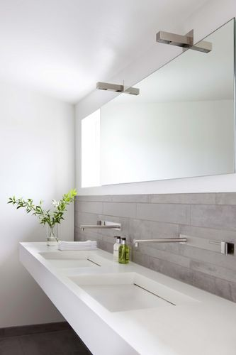 Double basin, cool taps