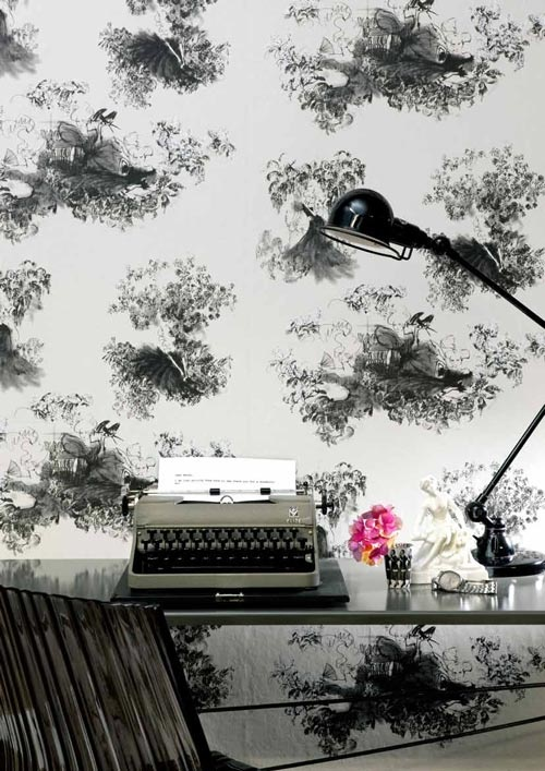 I know this makes me a disgusting hipster, but typewriter + toile = NEEEEED.: Pink Flower, Amelie Hegardt, Wall Paper, Redecorating Projects, Flower Flowerillustr, Freedom Writers, Writers Block, Decor Stuff, Patternillustr Flower