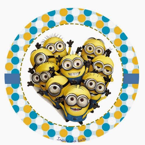 Despicable Me Free Printable Toppers, labels or stickers.
