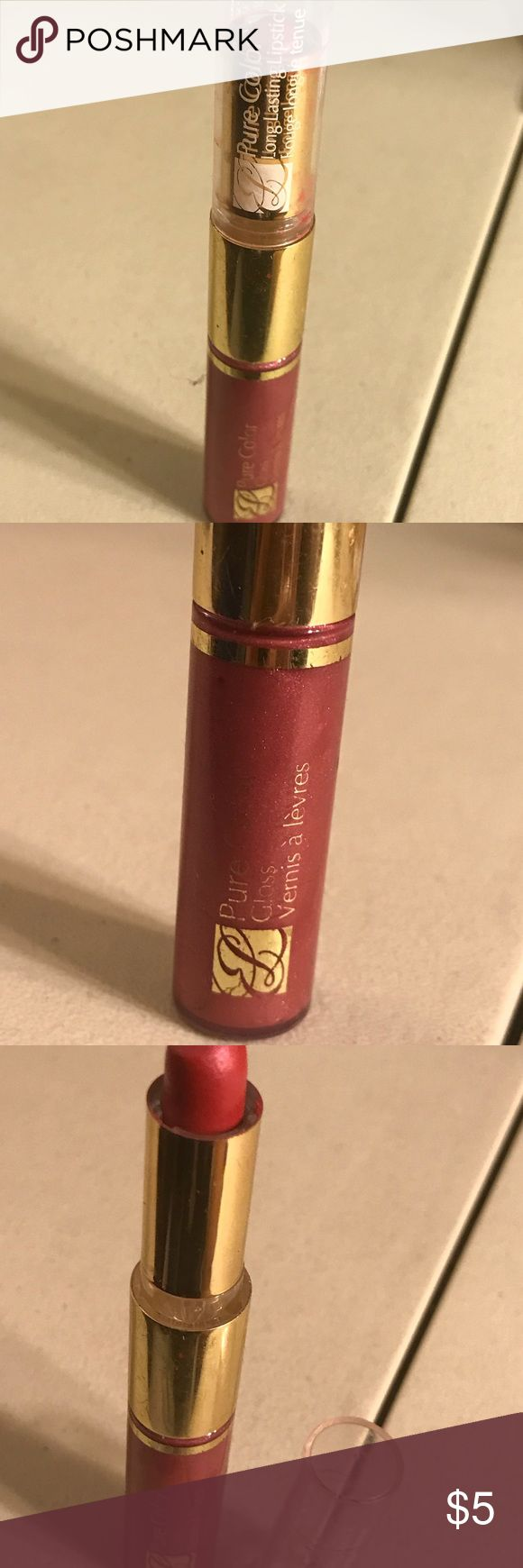 Estée Lauder pure color long lasting lipstick Estée Lauder pure color long lasting lipstick and gloss shimmer, colors are 88 rubellite shimmer and 33 orchid passion shimmer, used. Thanks for checking out Luxury1cosmetics!! Offers are welcomed, bundles are discounted!! Estee Lauder Makeup