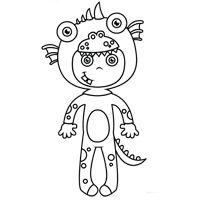 Kiddoland: Kolorowanka Dziecko w kostiumie