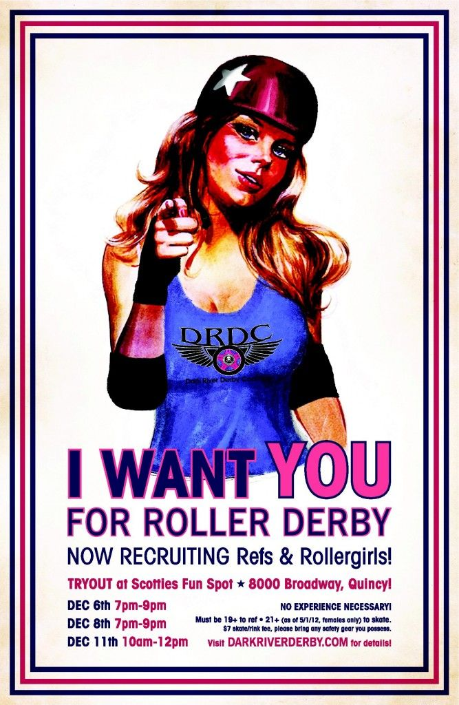 I want you for roller derby