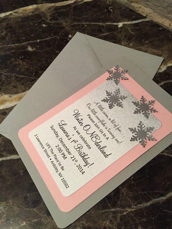 Winter ONEderland Invitations - Winter wonderland - Baby shower/Birthday invitations on Etsy - Southern Rose Designs