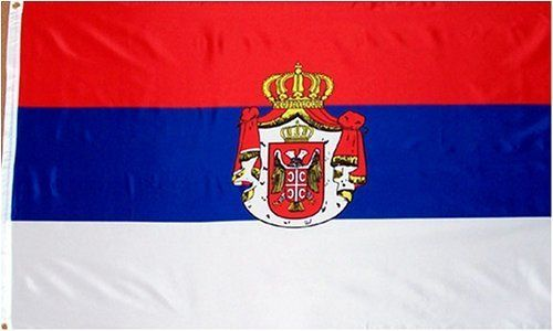"""Serbia National Country Flag - 3 foot by 5 foot Polyester (New) by Country Flags """"S-T"""". $5.49. 3 Foot by 5 Foot, Indoor-Outdoor, Lightweight Polyester Flag with Sharp Vivd Colors. Express Domestic Shipping is OVERNITE 98% of the time, otherwise 2-day.. Express International Shipping is Global Express Mail (2-3 days). 2 Metal Grommets For Eash Mounting with Canvas Hem for long lasting strength. FAST SHIPPER: Ships in 1 Business Day; usually the Same Day if pmnt clears by no..."""
