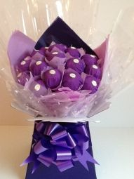 Ferrero Rocher Chocolate Bouquet in Purple
