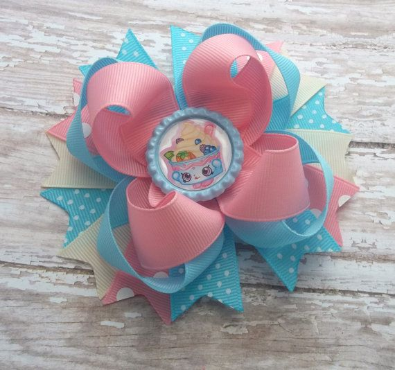 Birthday Hair Bow Ice Cream Hair Bow Girls by JustinesBoutiqueBows
