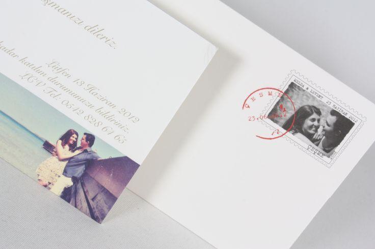 Resimli ve pullu davetiyeler...