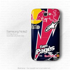 Thomas Pagès Tom Pages Red Bull X-Fighters Motocross Freestyle Galaxy Note 2 N7100, Galaxy N7000 i9220 Case