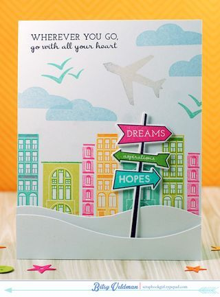Go With All Your Heart Card by Betsy Veldman for Papertrey Ink (March 2015)