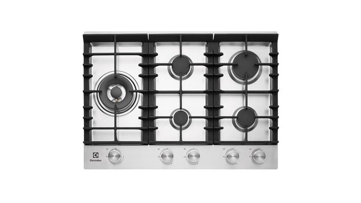 Electrolux 75cm Stainless Front Control Cooktop