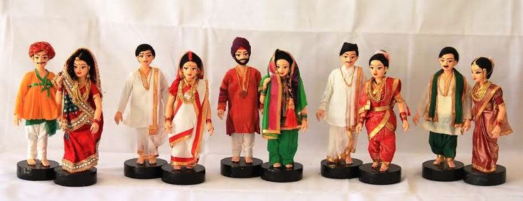 Indian Couples- traditional costume from different states
