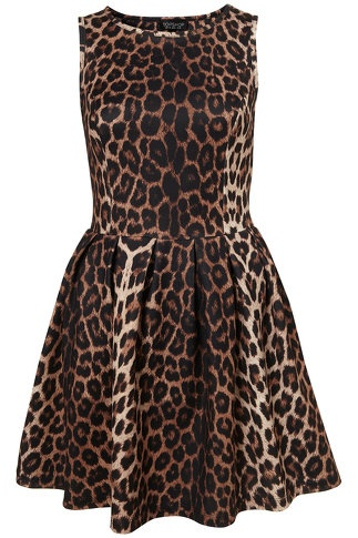 Animal Skater Dress - LoLoBu - when did I become the chick that loves animal print and girly cuts???