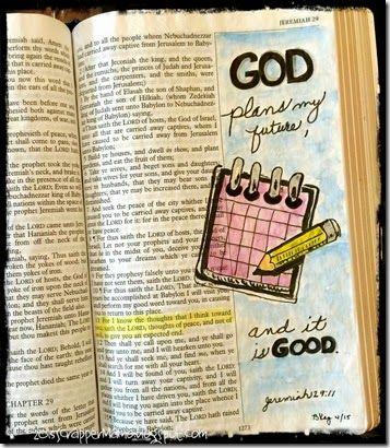 Bible Art Journaling Week 14 Jer 29-11
