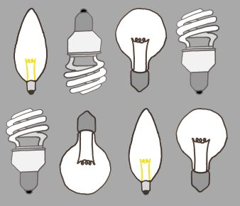 Bulb pattern. I attempted to use different kinds of bulbs to make the pattern more interesting.