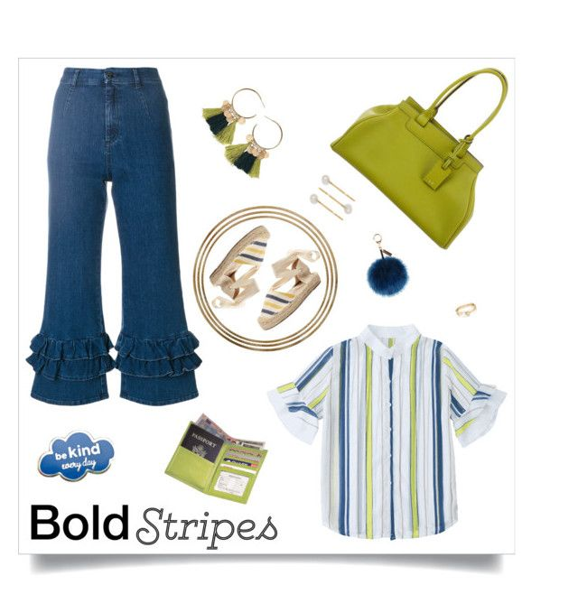 """Bold Stripes"" by km-r7 ❤ liked on Polyvore featuring VIVETTA, Soludos, Moynat Paris, Helen Moore, Royce Leather, Loren Stewart and Jennifer Behr"