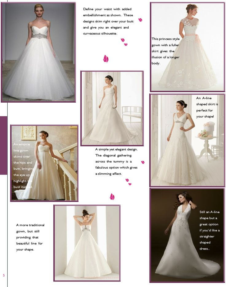 Wedding Dress Shapes - Locallygrownweddings.com
