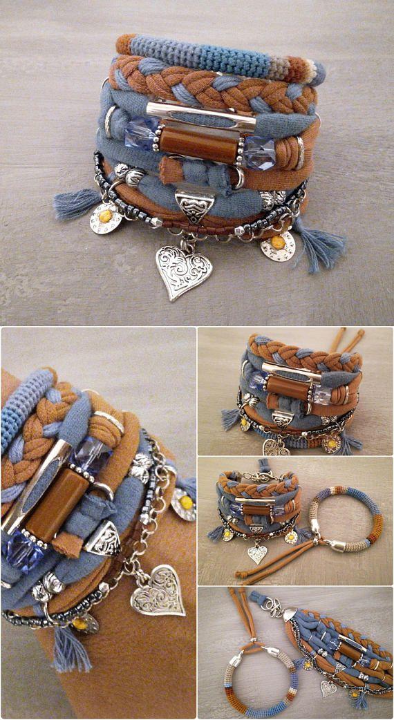Türkis und Honig böhmischen Armband Gypsy Armband Buddha Kopf Charme Multistrand Armband Hippie-Stil Boho Armbänder Stapel Boho Schmuck