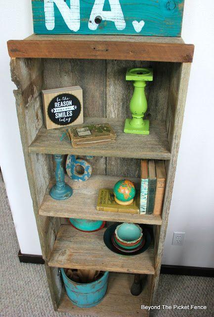 Project challenge reclaimed wood bookshelf diy awesome for Reclaimed wood bookcase diy