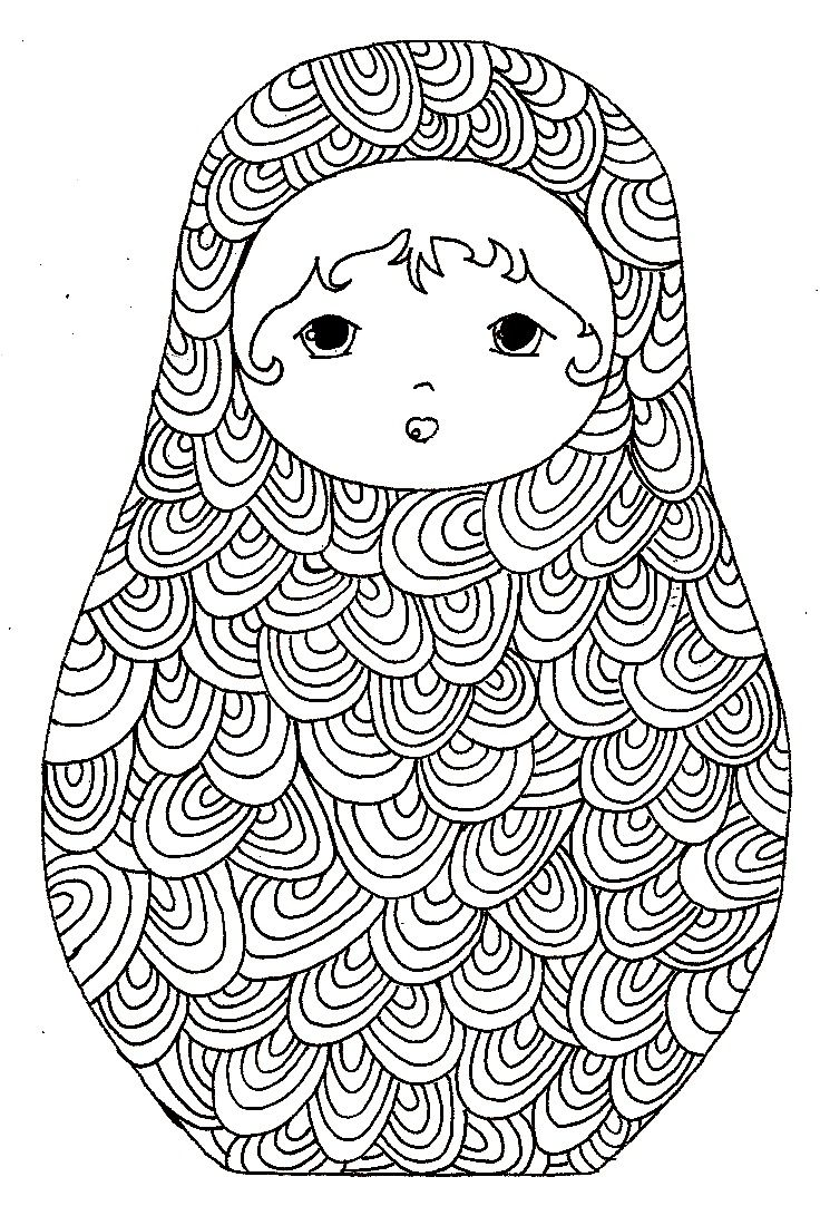 babushka coloring pages - photo#8